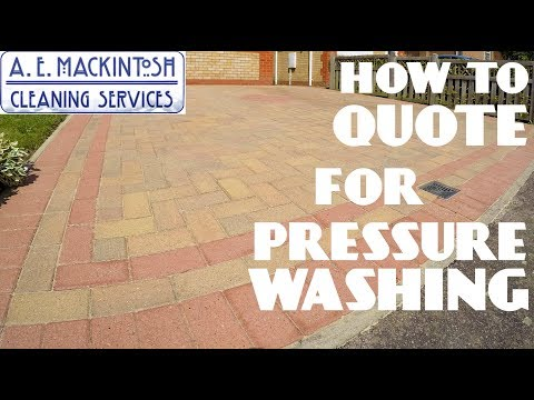 How To Quote For Pressure Washing