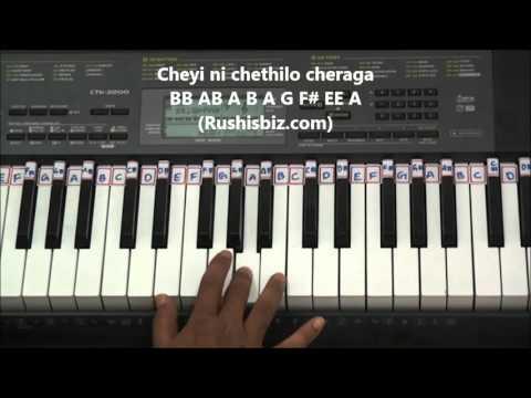 Pacha Bottesina - Piano Tutorials ..... Baahubali (Telugu)