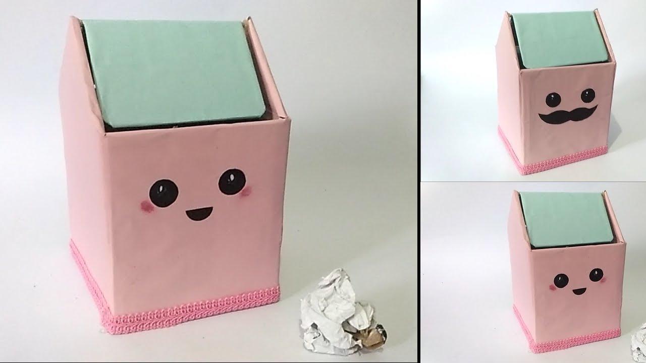 Membuat Tempat Sampah Mini Dari Kardus Bekas Kiddo Id