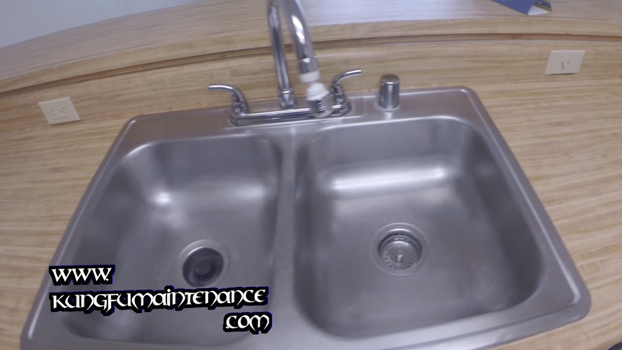 Ordinaire Removing Stains Scratches Marks From Stainless Steel Sinks DIY Repair  Maintenance Video
