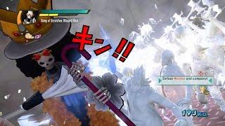 One Piece Pirate Warriors 3 Brook Level 100 Gameplay