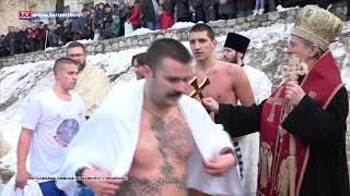 Bogojavljensko plivanje za časni krst u Prijepolju 2019. godine