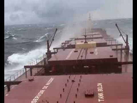 Rough Weather on North Atlantic onboard MV. Federal Venture