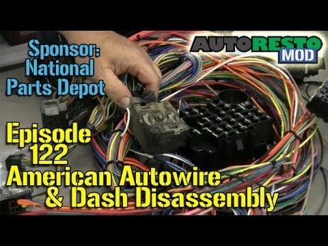 American Autowire, \u002765 Mustang dash disassembly Autorestomod Episode