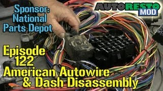 American Autowire, '65 Mustang dash disassembly Autorestomod Episode 122