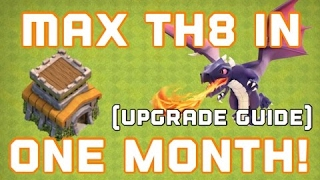Clash of Clans | TH8 COMPLETE UPGRADE GUIDE | MAX OUT TOWN HALL 8 IN ONE MONTH!!!!! Must Watch