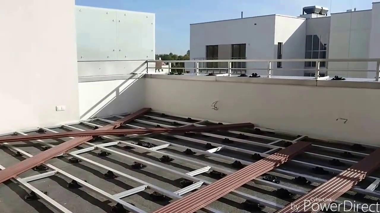 W Ultra Montaż tarasu z deski kompozytowej SILVADEC na balkonie - YouTube VU85