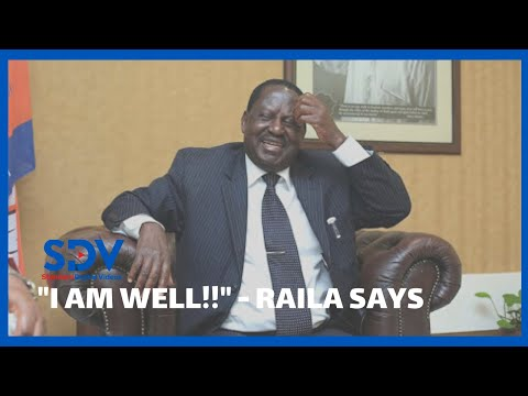 Raila Odinga thanks his supporters for well wishes as he recuperates following surgery in Dubai