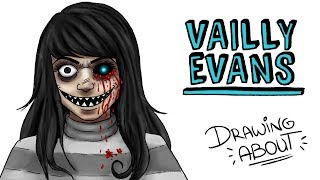 VAILLY EVANS - TE VEO | Draw My Life creepypasta