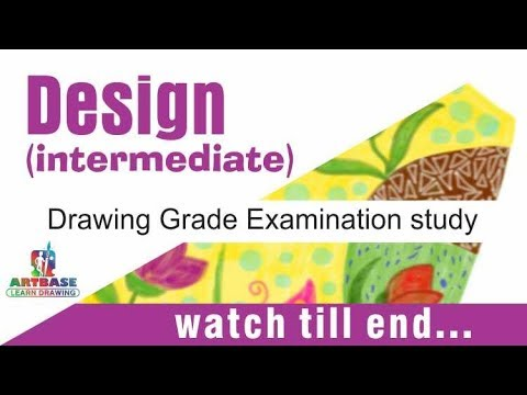 Intermediate /drawing grade examination study - design (संकल्प चित्र)