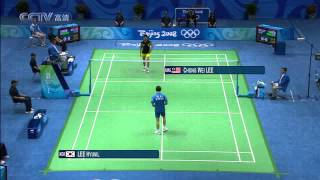 2008 Beijing Olympic Badminton MS Semi Final - Lee Chong Wei [MAS] Vs Lee Hyun il [KRO]