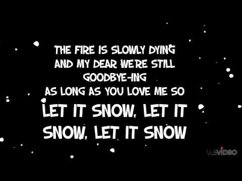 Let It Snow Michael Buble Lyrics Youtube