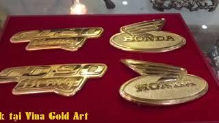 Logo xe ô tô- mạ vàng ô tô- mạ vàng 24k