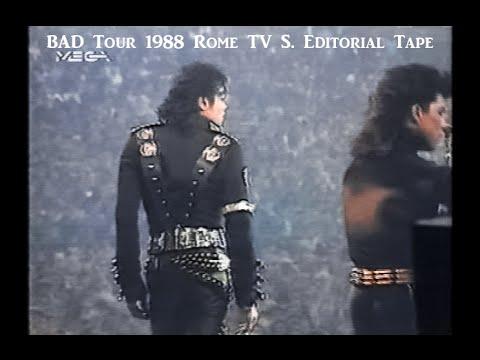 MJ BAD Tour 1988 Rome TV Station Editorial Tape (full)