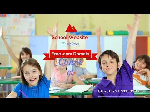 Free .com Domain School Website Template Sample, Responsive Designs By Chauhan Enterprises