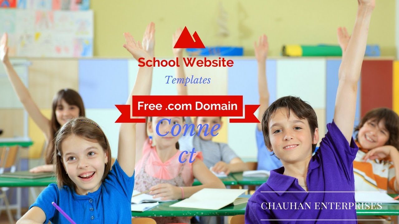 Free .com Domain School website template sample, Responsive Designs ...