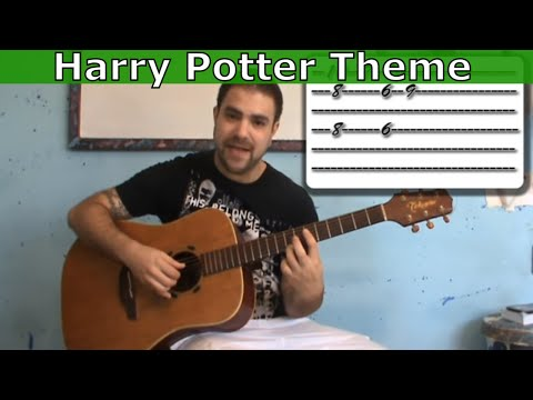 Tutorial: Harry Potter Movie Theme - Fingerstyle Guitar w/ TAB (aka Hedwig's Theme)