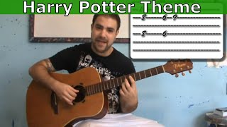 Tutorial: Harry Potter Movie Theme - Fingerstyle Guitar w/ TAB (aka Hedwig