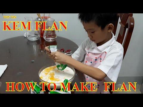 Win Tin | Cách Làm Kem Flan | How To Make Flan Cake