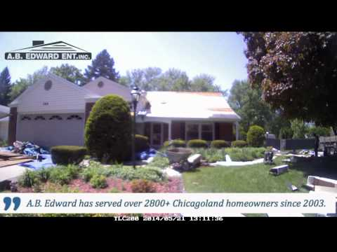 1 Day Home Exterior Roof Replacement Timelapse - A.B. Edward Ent.