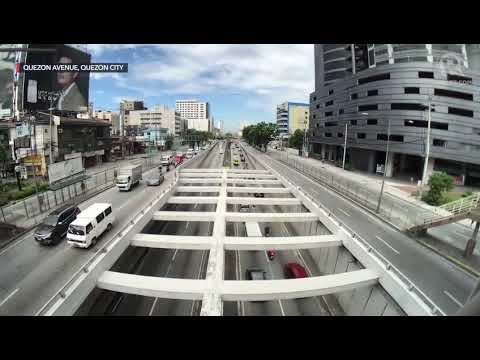 Traffic in Quezon City on the first day of GCQ