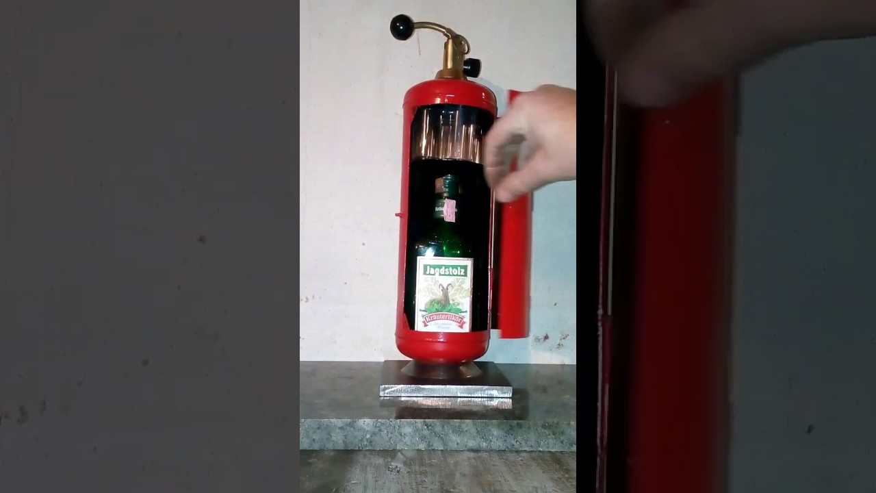 Homemade minibar made from old fire extinguisher - YouTube