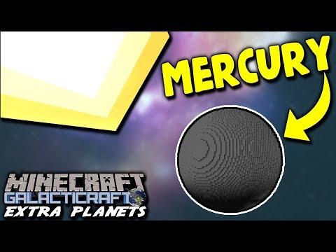 LANDING ON MERCURY! A NEW PLANET! | Minecraft Galacticraft (2018 Extra Planets) Mod #10