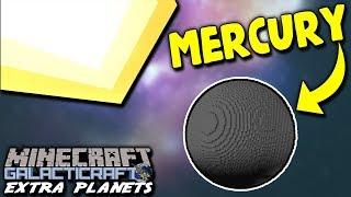 LANDING ON MERCURY! A NEW PLANET!   Minecraft Galacticraft (2018 Extra Planets) Mod #10