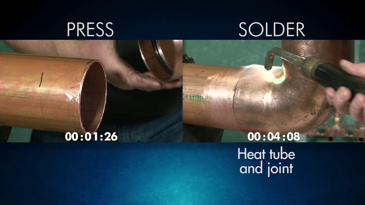 "NIBCO® Press Fittings vs Soldering Installation 2½"" to 4"""