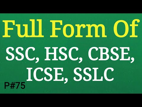 Full Form Of SSC, HSC, CBSE, ICSE, SSLC | Full Name Meaning | Gk Quiz In Hindi | Mahipal Rajput