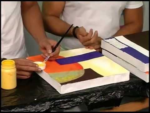 Cuadros hechos en casa p42 parte 2 3 youtube - Cuadros para pintar en casa ...
