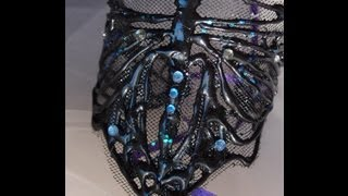 Easy hot glue cuff bracelet tutorial - Gothic / Art Nouveau