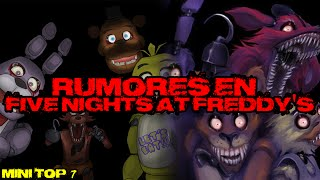 TOP: 7 rumores y leyendas en Five Nights at Freddy