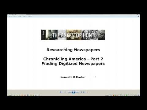 How to Use Chronicling America - Part 2 - Find Digitized Newspapers