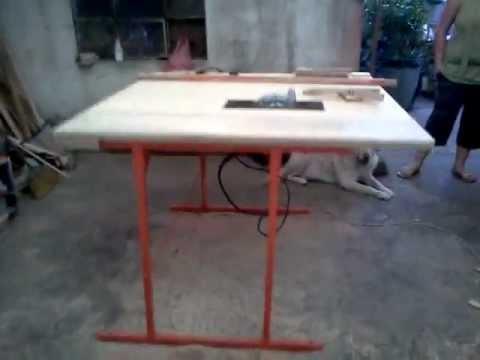 Resien terminando mesa para sierra circular y prueva youtube for Sierras de mesa