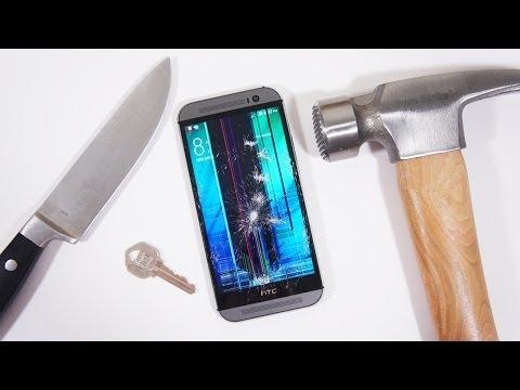 All New HTC One (M8) Scratch & Hammer Test!