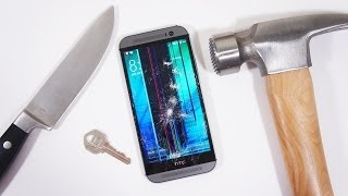 All New HTC One (M8) Scratch & Hammer Test!