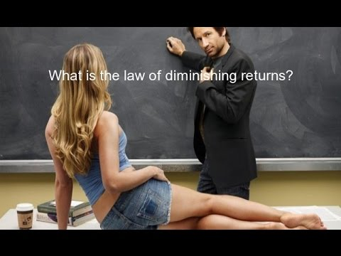 What is the law of diminishing returns?