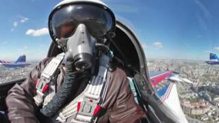 Rehearsal for V Day Parade 360  Swifts & Russian Knights aerobatic teams