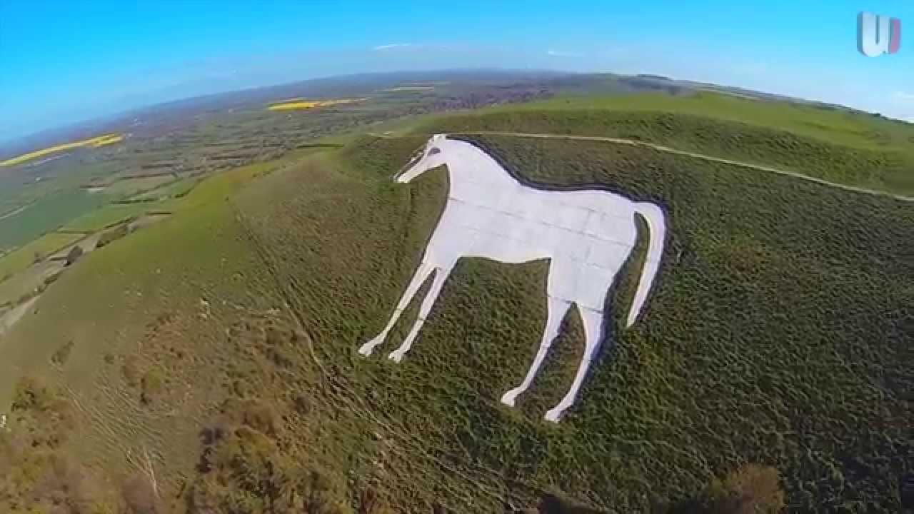 Westbury White Horse / Aerial Footage / WJ Media