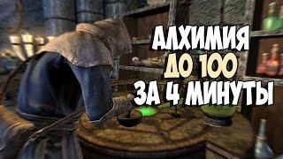 Skyrim АЛХИМИЯ ДО 100 ЗА 4 МИНУТЫ