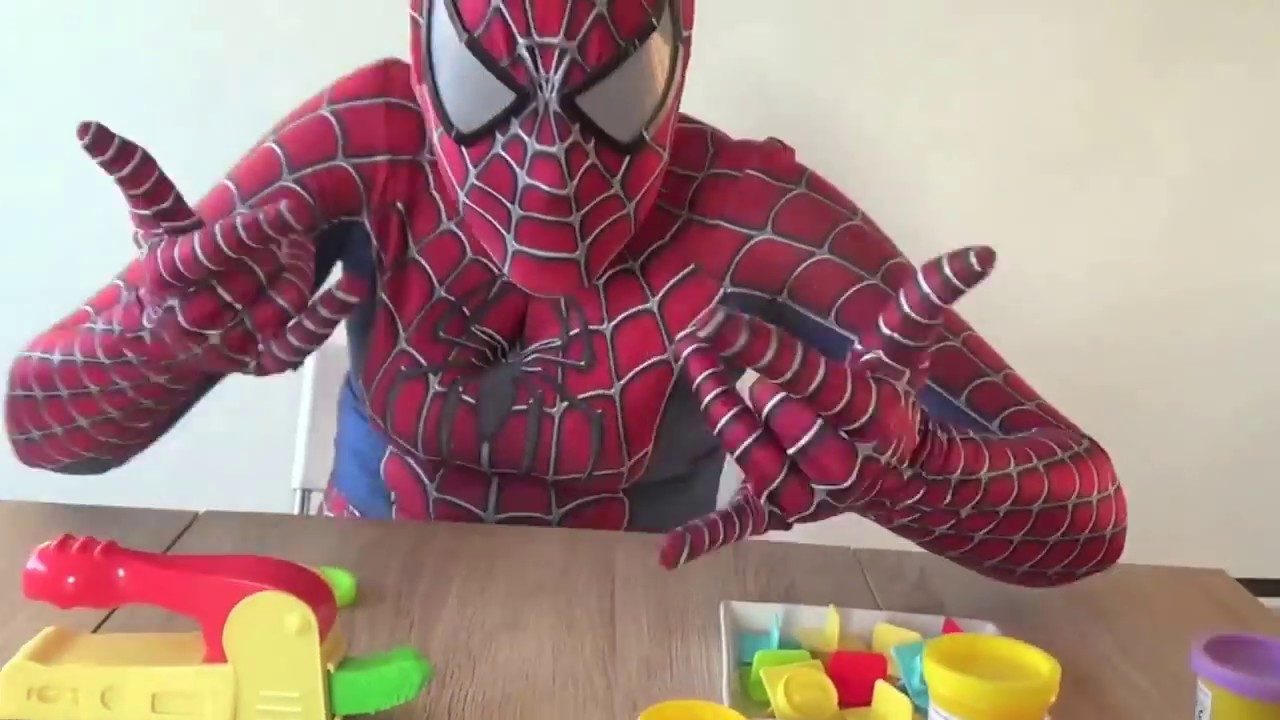 apprendre les chiffres en anglais avec spiderman pate modeler youtube. Black Bedroom Furniture Sets. Home Design Ideas