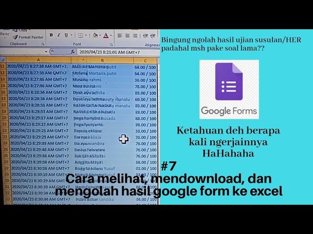 45+ Cara Mengubah Google Form Ke Excel mudah