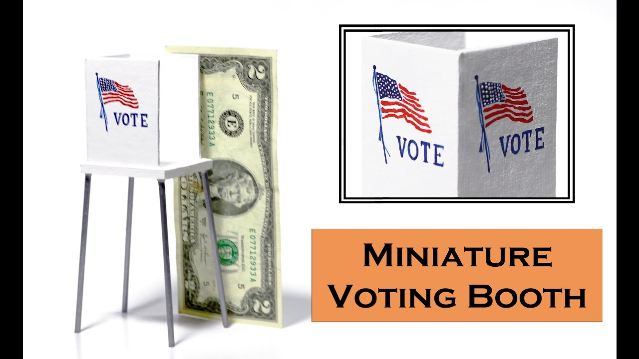 Make a Mini Voting Booth (Easy Tutorial)