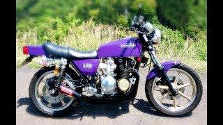 首都高最速伝説 Z400FX 紫龍と呼ばれたFX  驚愕のCRキャブの咆哮!purple dragon 1981 old bike kawasaki thumbnail