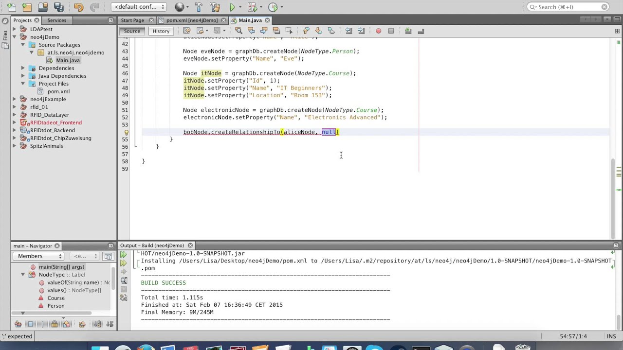 neo4j with Java / Netbeans