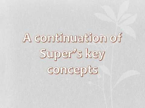 Super's Life Span Career Theory Video