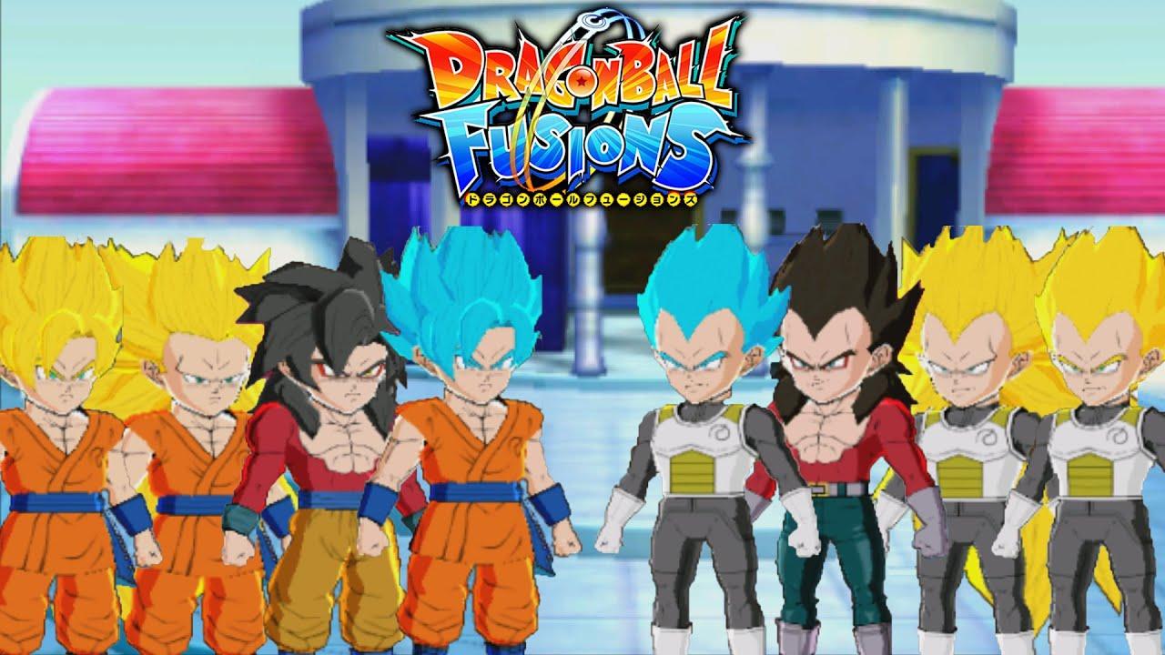 dragon ball fusions 3ds all saiyan forms ssj to