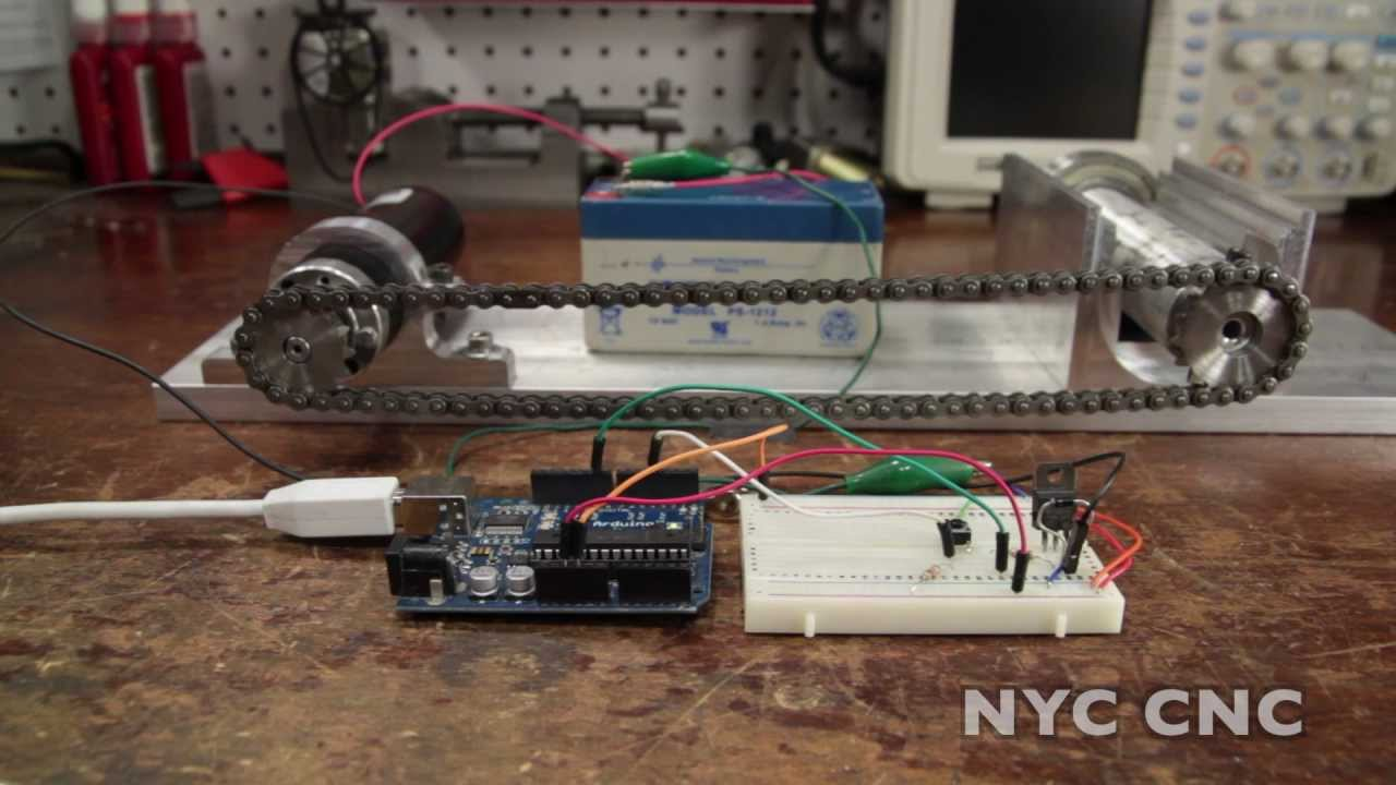 control a dc motor with arduino and transistor how to tutorial from nyc cnc youtube [ 1280 x 720 Pixel ]