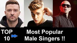 Top 10 Most Popular Male Singer in the World - Wiz Khalifa, Justin Bieber, Timberlake, Pitbull